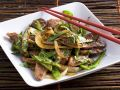 Asian Duck with Onions and Snow Peas recipe