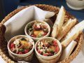 Baked Eggs En Cocotte with Manchego, Capers. and Tomatoes recipe