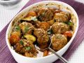Baked Lamb Meatballs with Tomatoes and Zucchini recipe