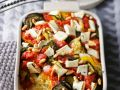 Baked Millet with Eggs, Vegetables and Goat Cheese recipe