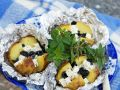 Baked Potatoes with Black Olives and Feta recipe