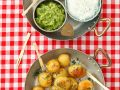 Baked Potatoes with Various Dips recipe