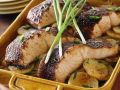 Baked Spice-Crusted Salmon with Potatoes recipe