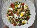 Bean and Vegetable Salad with Hard-Boiled Eggs recipe
