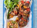 Beef Kebabs with Chumichurri recipe