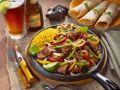 Beef Pan on Mexican Art (Fajita) recipe