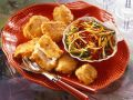Beer Battered Fish with Bell Pepper Slaw recipe