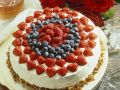 Biscuit Cake with Mixed Berries recipe