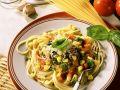 Broccoli and Tomatoes with Spaghetti recipe