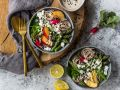 Buddha-Bowl with Asparagus and Soba Noodles recipe