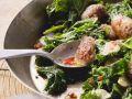 Kale and Pork Saute recipe