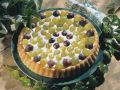 Cake with Wine Cream and Grapes recipe