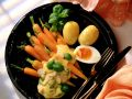 Carrots with Hollandaise Sauce and Egg Halves recipe