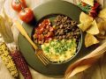 Cheese Omelet with Ground Beef and Tomato Salsa recipe