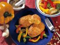 Chickpea Patties with Peppers and Onions recipe