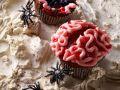 Chocolate Zombie Brain Halloween Cupcakes recipe