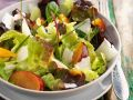 Colorful Mixed Salad with Plums recipe