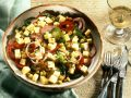 Corn and Bell Pepper Salad with Cheese recipe