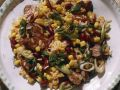 Corn Bean Salad with Sausage and Rice recipe