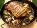 Crispy Roast Pork with Herbs and Sweet Potatoes recipe