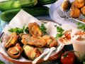 Deep-fried Zucchini with Tomato Sauce recipe