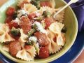 Farfalle with Broccoli, Tomatoes and Cheese recipe