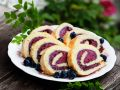 Frozen Cake Role with Blueberry Filling recipe