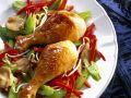 Glazed Chicken Drumsticks with Vegetables recipe