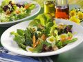 Green Salad with Quail Eggs and Baby Vegetables recipe