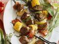 Grilled Beef and Vegetable Skewers recipe