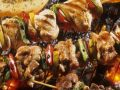 Grilled Chicken Skewers with Bell Peppers and Lemon recipe