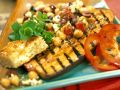 Grilled Eggplant with Chickpea Salad recipe