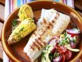 Grilled Fish Fillets with Corn and Vegetables recipe