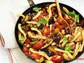 Pasta with Grilled Vegetables recipe