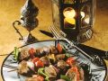 Grilled Lamb and Pepper Skewers recipe