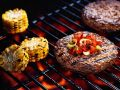 Grilled Patties with Corn recipe