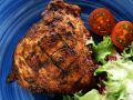 Grilled Pork Chops with Salad recipe