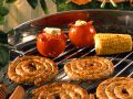 Grilled Sausages and Vegetables with Herbed Butter recipe