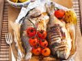 Grilled Sea Bream with Grilled Lemons and Cherry Tomatoes recipe