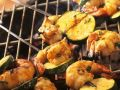 Grilled Shrimp and Zucchini Skewers with Spiced Oil recipe