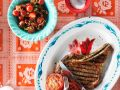 Grilled Steak with Tomato recipe