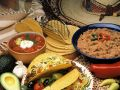 Ground Beef Tacos with Kidney Bean Purée and Tomato Salsa recipe