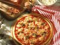 Ham and Mushroom Pizza recipe