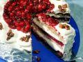 Hazelnut Sponge Cake with Cranberries recipe