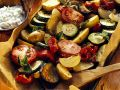 Roasted Vegetables with Herb Cream recipe