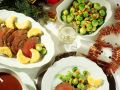 Honey-Mustard Crusted Beef Roast with Polenta and Brussels Sprouts recipe