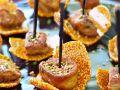 Honey-Sesame Brittle with Foie Gras recipe