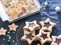 Jam Filled Star Cookies recipe