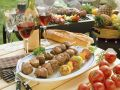 Lamb Skewers with Fruit and Vegetable Skewers recipe