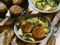 Meatballs with Capers and Anchovy Potato Salad recipe